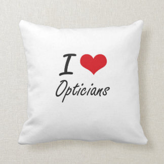 I love Opticians Throw Pillow