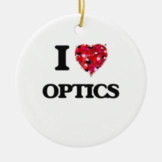 I Love Optics Double-Sided Ceramic Round Christmas Ornament