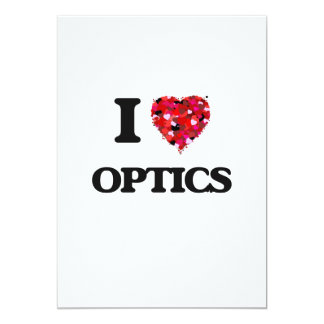 I Love Optics 5x7 Paper Invitation Card