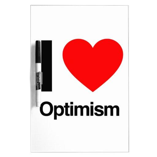 i love optimism dry erase boards