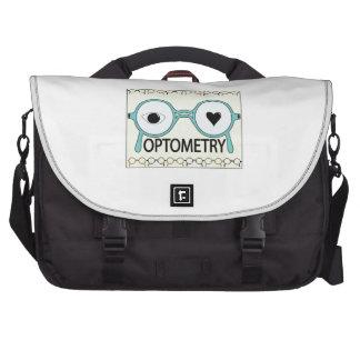 I Love Optometry Laptop Messenger Bag