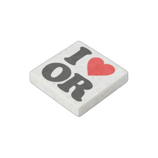 I LOVE OR STONE MAGNET