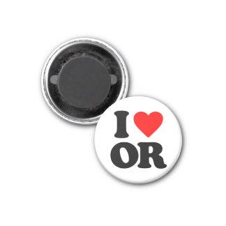 I LOVE OR REFRIGERATOR MAGNETS