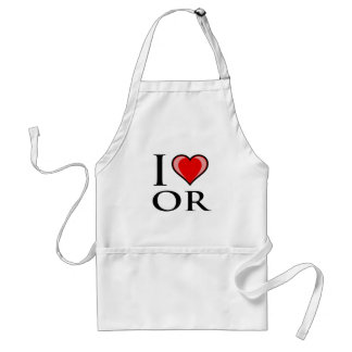 I Love OR - Oregon Adult Apron