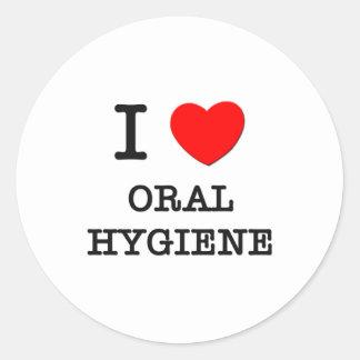 I Love Oral Hygiene Stickers