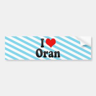 I Love Oran, Algeria Bumper Sticker
