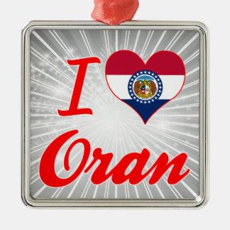 I Love Oran, Missouri Christmas Tree Ornament