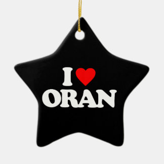 I LOVE ORAN CHRISTMAS TREE ORNAMENTS