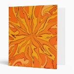 I love orange abstract art note book Avery Binder
