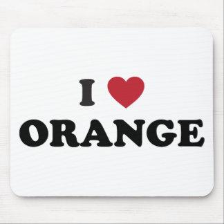 I Love Orange California Mouse Pad