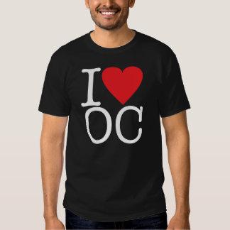 I Love Orange County (White/Red) T Shirts