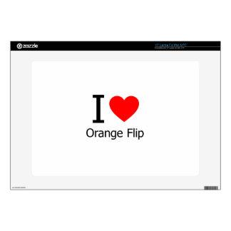 I Love Orange Flips Skin For Laptop