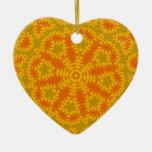 I Love Orange Geometric Design Ornament