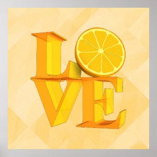 I LOVE ORANGE(TANGERINE/MANDARIN) | posters