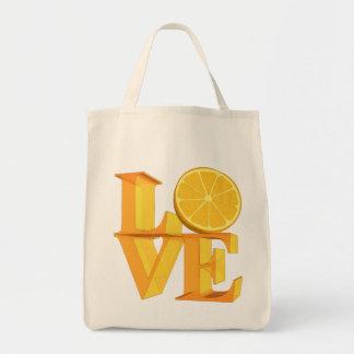 I LOVE ORANGE(TANGERINE/MANDARIN) TOTE BAG