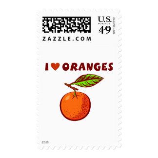 I Love Oranges Stamps