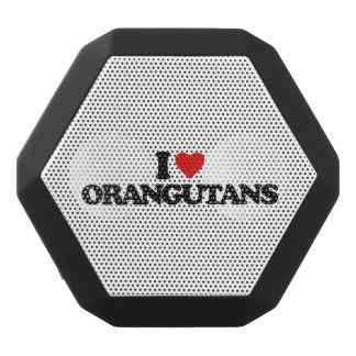 I LOVE ORANGUTANS BLACK BLUETOOTH SPEAKER