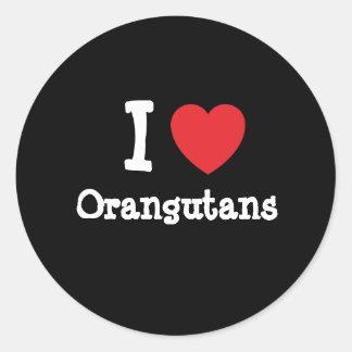 I love Orangutans heart custom personalized Stickers