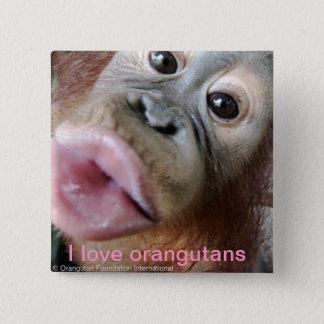 I Love Orangutans Pinback Button