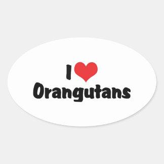 I Love Orangutans Sticker