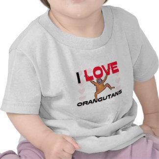 I Love Orangutans T Shirts