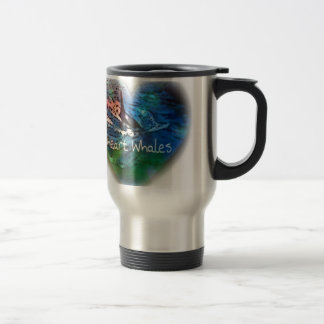 I love Orca Whales in heart gifts 15 Oz Stainless Steel Travel Mug