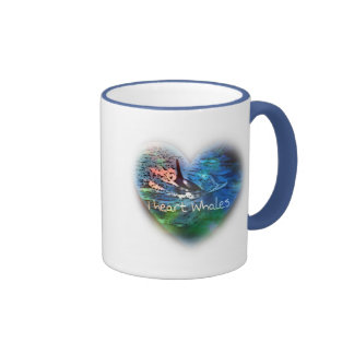 I love Orca Whales in heart gifts Ringer Coffee Mug