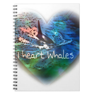 I love Orca Whales in heart gifts Note Book