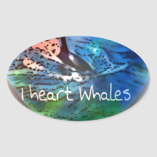 I love Orca Whales in heart gifts Oval Sticker