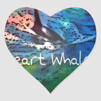I love Orca Whales in heart gifts Heart Sticker
