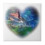 I love Orca Whales in heart gifts Tile