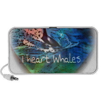 I love Orca Whales in heart gifts Travel Speaker