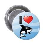 I Love Orcas 2 Inch Round Button