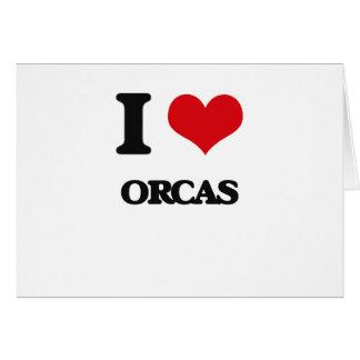 I love Orcas Greeting Card