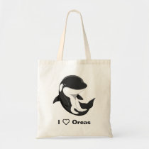 Beach Lover Gift Reusable Shopping Bag I Love Orca Whales Tote Bags Save the Planet Save the Ocean Killer Whales Whale Lover Gift