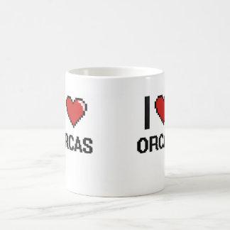 I love Orcas Digital Design Classic White Coffee Mug