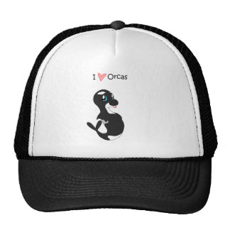 I Love Orcas Hat