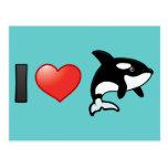 I Love Orcas Postcard