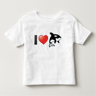 I Love Orcas Toddler T-shirt
