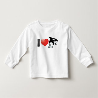 I Love Orcas Toddler T-shirt