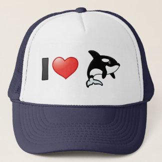 I Love Orcas Trucker Hat