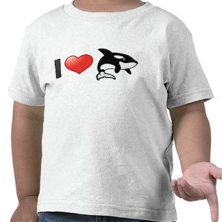 I Love Orcas Tshirt