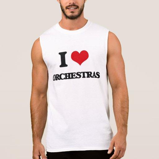 I love Orchestras Sleeveless Tee Tank Tops, Tanktops Shirts