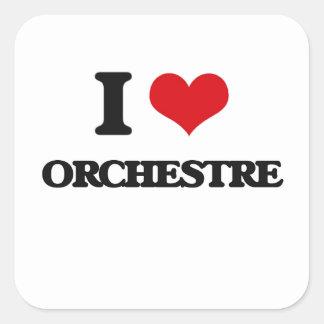 I Love ORCHESTRE Square Sticker