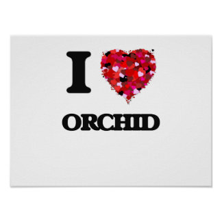 I love Orchid New Jersey Poster