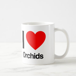 i love orchids coffee mug