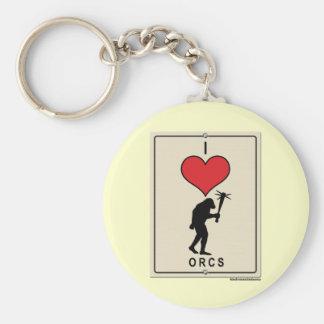 I Love Orcs Keychain