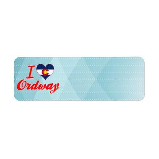 I Love Ordway, Colorado Return Address Label
