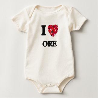 I Love Ore Baby Bodysuit