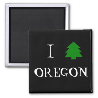 I love Oregon 2 Inch Square Magnet